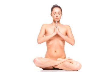 Naked yoga is liberating and helps us connect with our bodies.